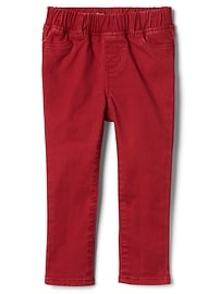 High stretch brushed red jeggings