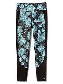 GapFit kids floral pieced sport leggings