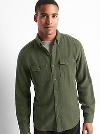 Cozy twill standard fit shirt
