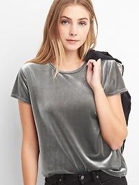 Velvet short sleeve tee