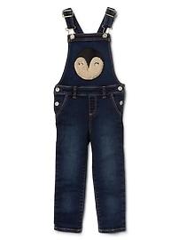 Penguin high stretch denim overalls