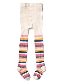 Collant en tricot à rayures folles