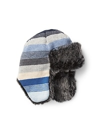 Crazy stripe trapper hat