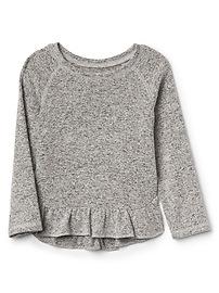 Softspun knit starry ruffle tee