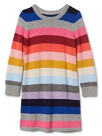 Crazy stripe sweater dress