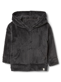 Cozy raglan zip hoodie