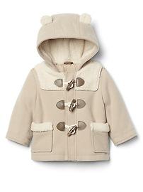 Cozy bear duffle coat