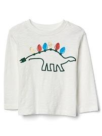 T-shirt festif en tricot grège à manches longues