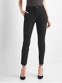 High rise skinny fit twill pants