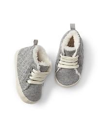 Cozy quilted hi-top sneakers