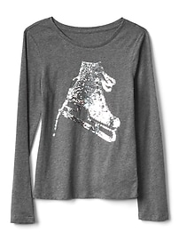 Flippy sequin long sleeve tee