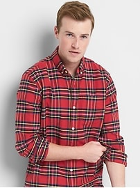 Oxford plaid standard fit shirt