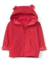 Cozy zip bear hoodie