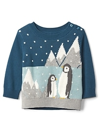 Penguin crewneck sweater