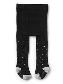 Polka dot sweater tights