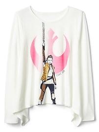 T-shirt à ourlet mouchoir et à motifs de Star WarsMC de Gap