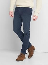 Pantalon en velours côtelé coupe moulante (extensible)