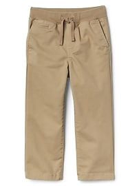 THERMOLITE&#174 brushed pull-on chinos