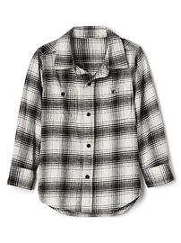 Chemise en flanelle à carreaux à manches longues