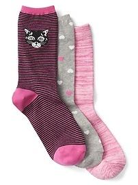 Print Crew Socks (3-pack