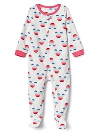babyGap &#124 Disney Baby Mickey Mouse crazy stripe footed one-piece