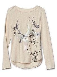 GapKids &#124 Disney Frozen embellished long sleeve tee
