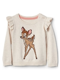 babyGap &#124 Disney Baby Bambi ruffle sweater