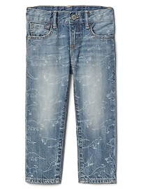 Straight Jeans in Dino Print