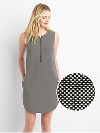Zip front shift dress