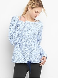 GapFit quilted crinkle pullover