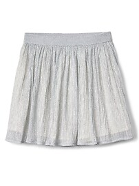 Metallic flippy skirt