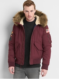Limited Edition faux-fur hooded bomber
