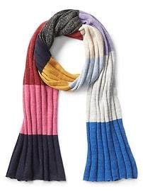 Écharpe à rayures folles métalliques à couleurs contrastantes