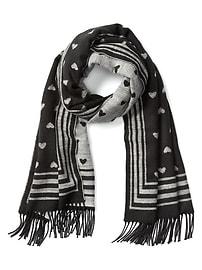Confortable écharpe à franges et à motifs Jacquard