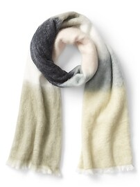 Crazy stripe colorblock scarf
