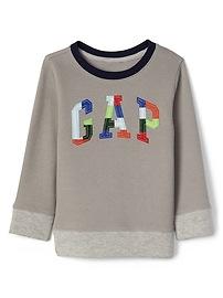 Pull-over en tricot côtelé avec logo à carreaux