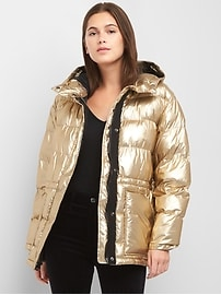 ColdControl Max oversize metallic puffer jacket