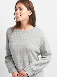 Quilted sleep pullover sweater