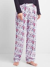 Print flannel sleep pants