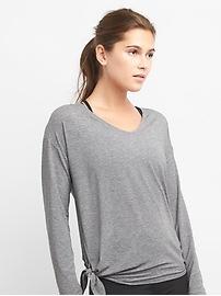 T-shirt avec lien latéral Breathe