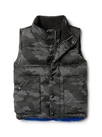 EcoPuffer down colorblock puffer vest