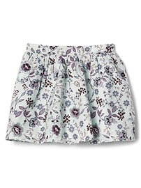 Twill floral flippy skirt