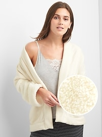 Sherpa sleep cardigan