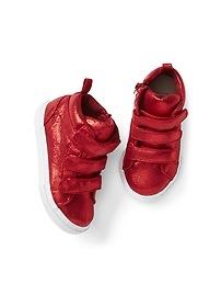 Shimmer Hi-Top Sneakers