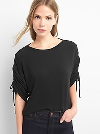 Softspun ruched-sleeve tee