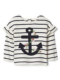 Anchor Ruffle T-Shirt