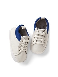 Ribbed-trim sneakers