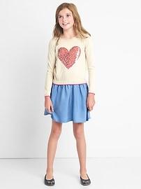 TENCEL&#153 sequin sweater dress