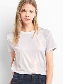 T-shirt ras du cou métallique