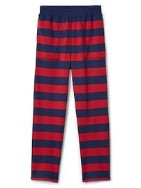 Pantalon de pyjama rayé en jersey bouclette